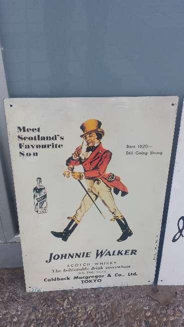 Imagen Cuadro de chapa Vintage Whisky Johnnie Walker