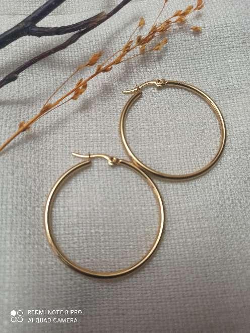 Imagen producto Pendientes dorados acero inoxidable. 1