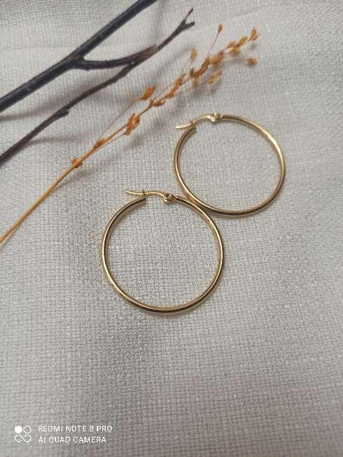 Imagen producto Pendientes dorados acero inoxidable. 2