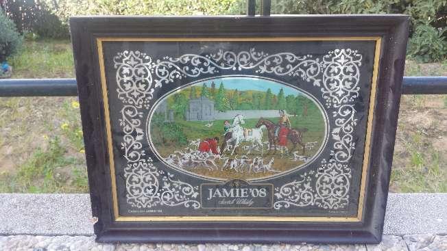 Imagen Cuadro espejo Vintage de coleccion Whisky Jamie 08