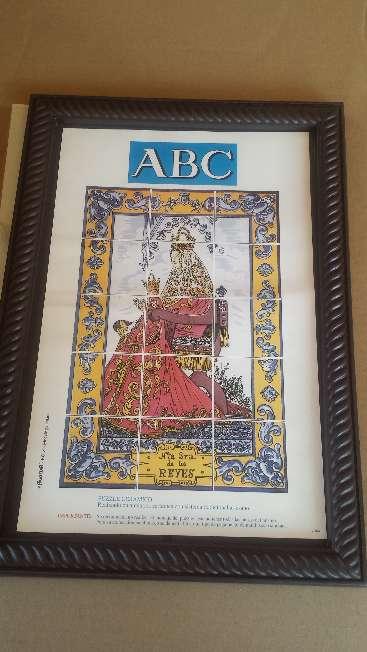 Imagen Cuadro mosaico de azulejos Virgen de los Reyes de Sevilla