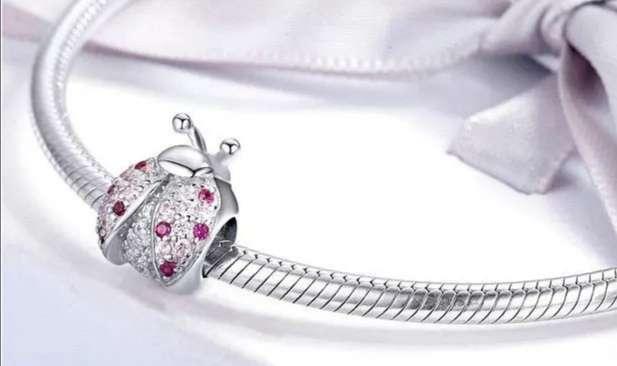 Imagen Charms - abalorio Mariquita de la Suerte para pulsera de Pandora, Plata de ley 925