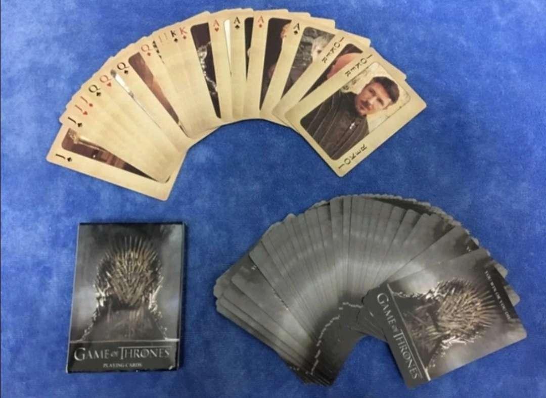Imagen Baraja de 54 Cartas de Póker Juego de Tronos, coleccionismo