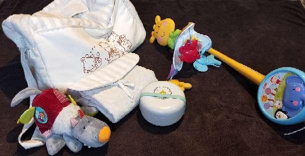 Imagen lote bebé bolsa cojin lactancia