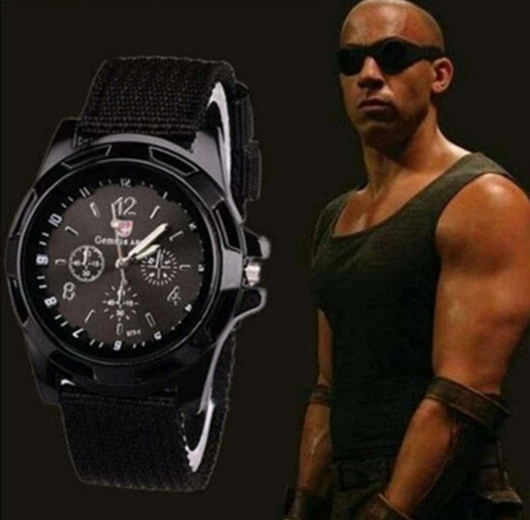 Imagen Reloj Negro de Cuarzo Vin Diesel Deportivo - Militar, a estrenar