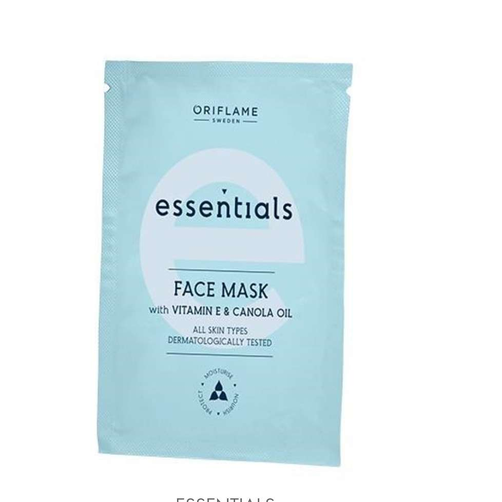 Imagen Mascarilla Facial con Vitamina E y Aceite de Canola Essentials
