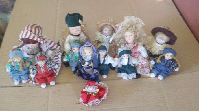 Imagen producto Muñecas de porcelana 13 unidades 3 tamaños 1