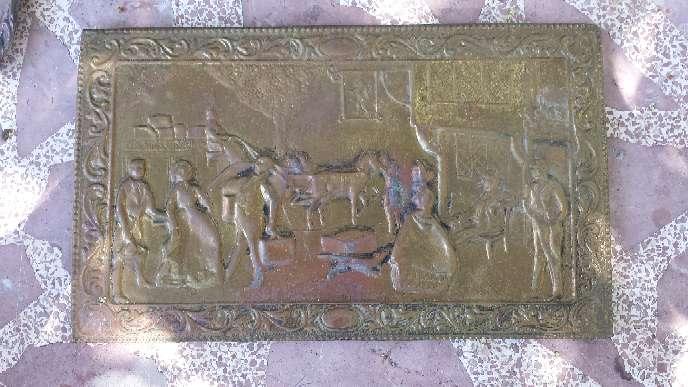 Imagen Cuadro ingles repujado en cobre SIGLO XVIII