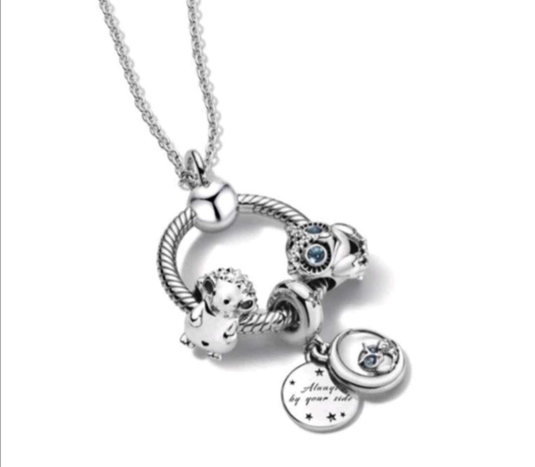 Imagen Colgante con cadena con Charms de Búhos y Castor, como regalo acertarás seguro