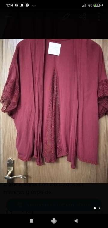 Imagen camisola con puntilla señora