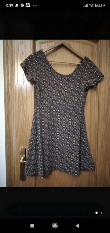 Imagen vestido estampados colores marrones