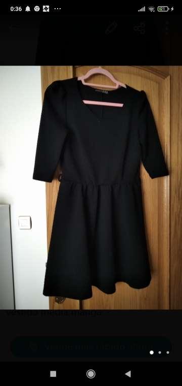 Imagen vestido negro manga semi