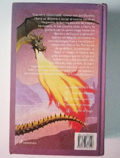 Imagen producto Harry Potter y el cáliz de fuego.  2