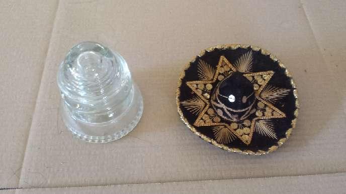 Imagen Sombrero mejicano y Jicara de cristal grande