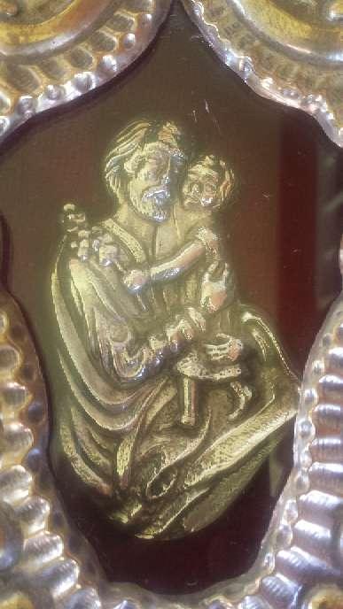Imagen producto Relicario de San Jose de metal y la figura de plata 23x17 ctms. 2