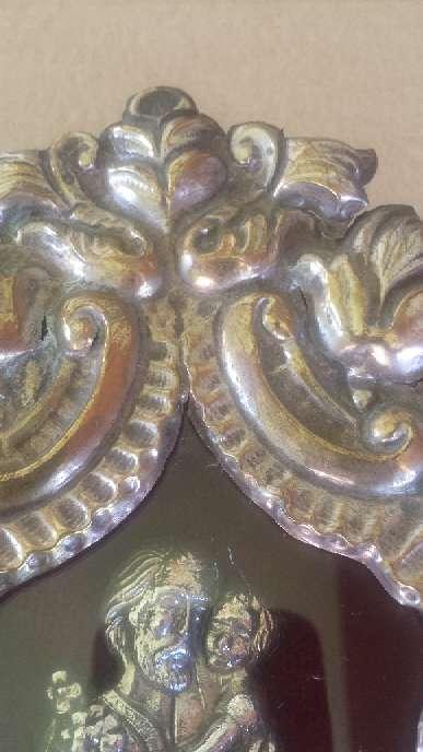 Imagen producto Relicario de San Jose de metal y la figura de plata 23x17 ctms. 4