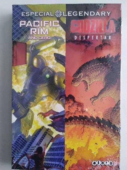 Imagen Estuche Pasific Rim, año cero y Godzila Despertar, integrales, comics