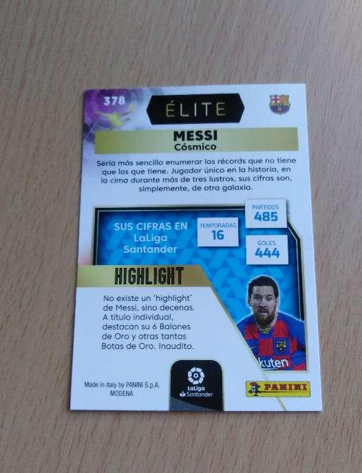 Imagen producto Messi cromo / card fútbol.  2