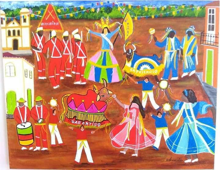 Imagen a.almeida artista naif boi bumba
