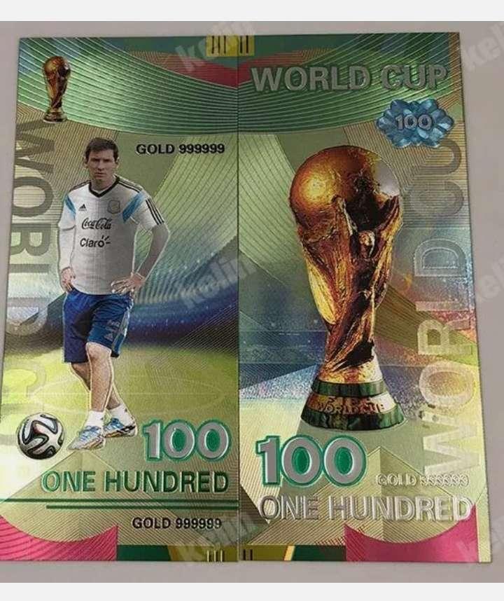 Imagen Billete de colección. Leonel Messi copa del mundo.