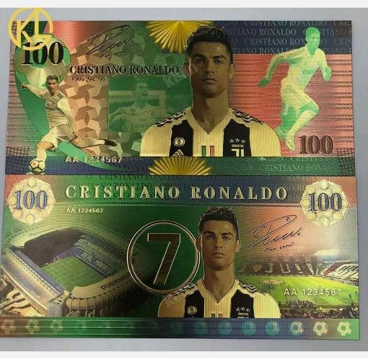Imagen Billete de colección Cristiano Ronaldo.