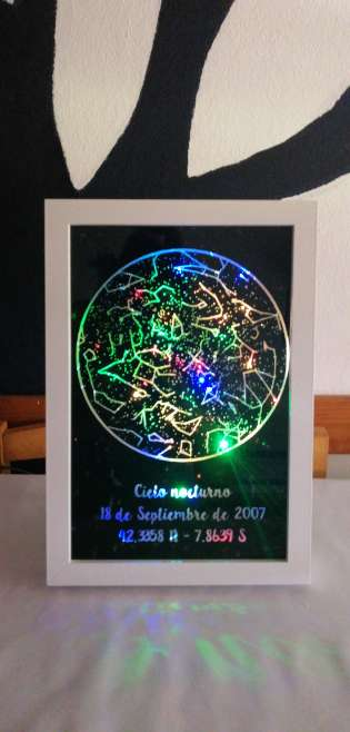 Imagen Mapa estelar personalizado con luces