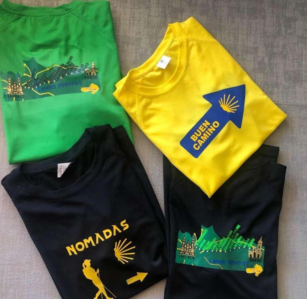 Imagen camisetas tecnicas deportivas para el  camino y el día a dia