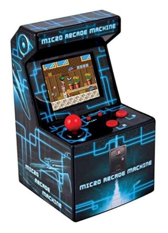 Imagen Consola Mini Arcade con 250 juegos.