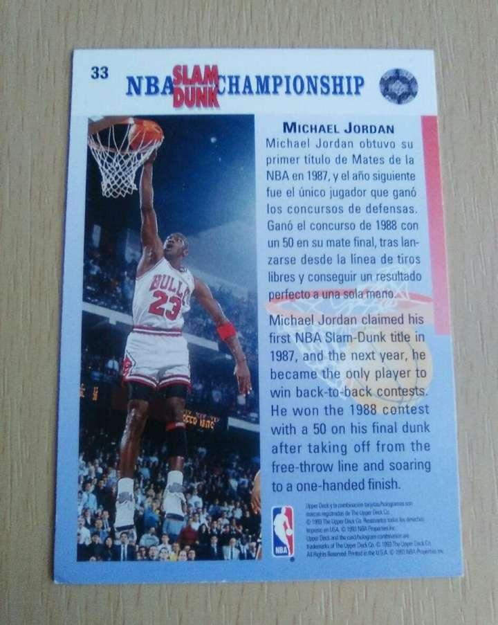 Imagen producto Jordan cromo card. NBA.  2