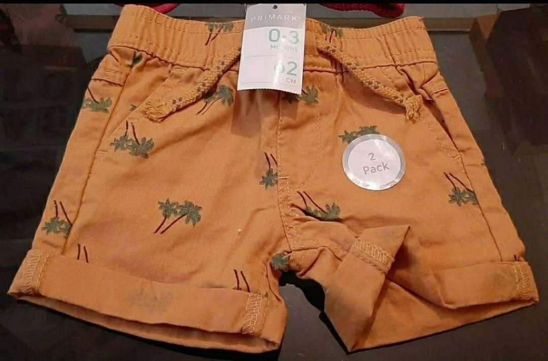 Imagen Bermudas Infantiles Pack 2 Primark Nuevo a Estrenar 62cm
