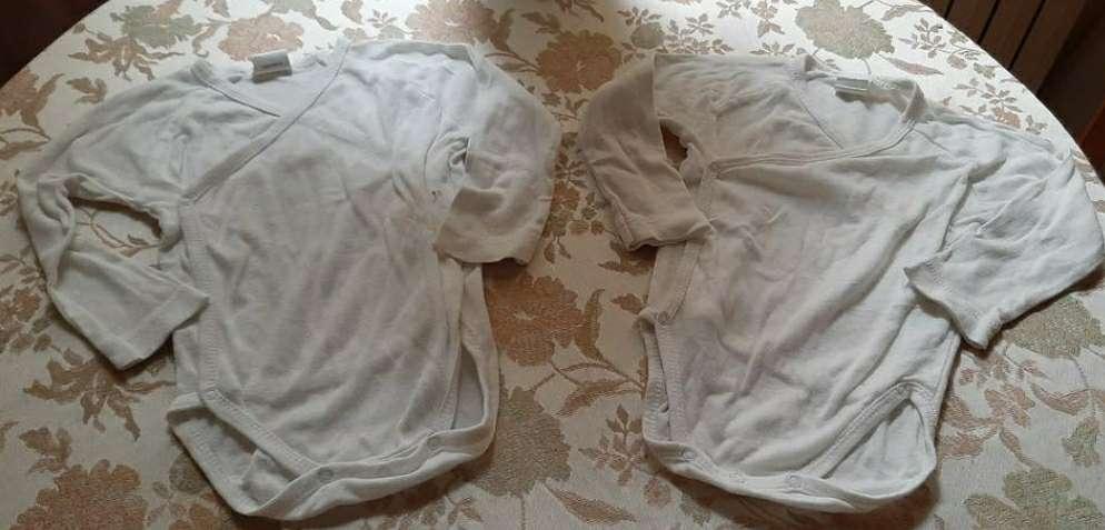 Imagen Bodies Infantiles Blancos Pack 4 62cm