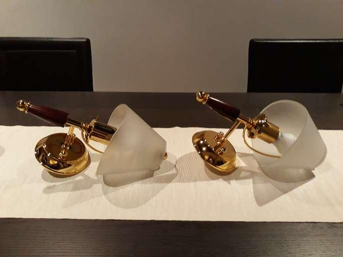 Imagen lamparas de paret,tipo aplique.  .muy elegantes ,nuevas..