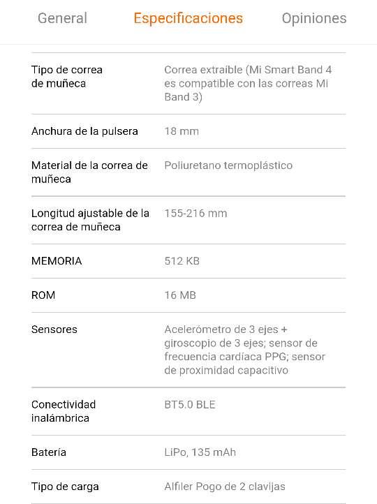 Imagen producto Xiaomi Mi Smart Band 4 6