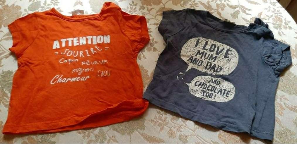 Imagen Camisetas Niña Naranja /Azul 6 meses