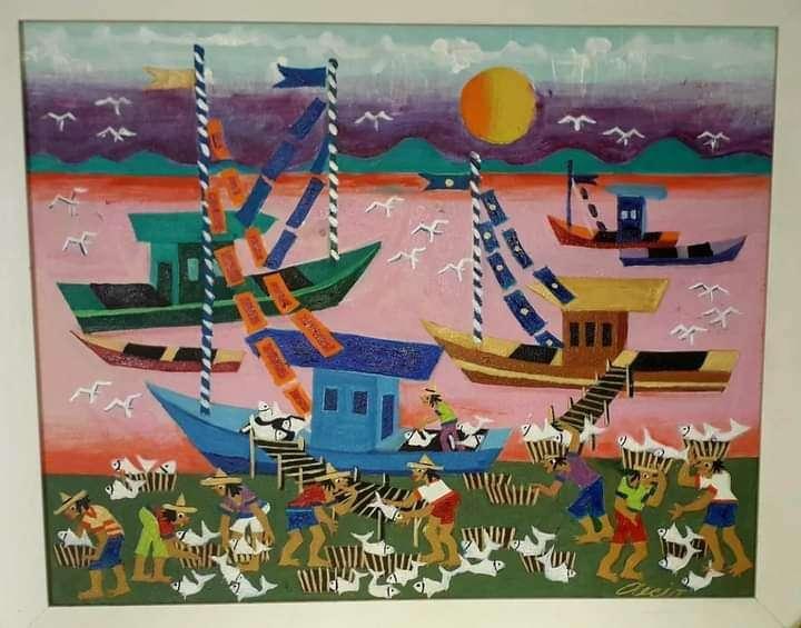 Imagen producto Aecio tema pescadores medida 60x60 1