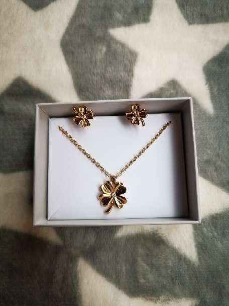 Imagen El conjunto de collar y pendientes