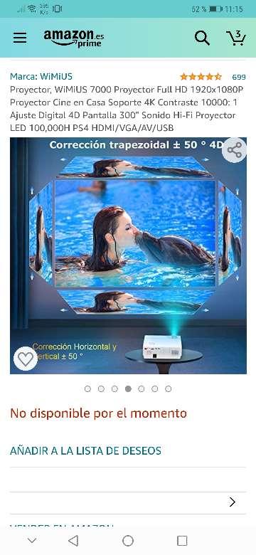 Imagen producto Vendo proyector wimius nuevo a estrenar 7200 lúmens,soporta 4k resolución 1920x1080.salidas HDMI, VGA y USB . 5