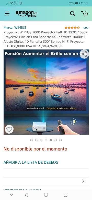 Imagen producto Vendo proyector wimius nuevo a estrenar 7200 lúmens,soporta 4k resolución 1920x1080.salidas HDMI, VGA y USB . 4