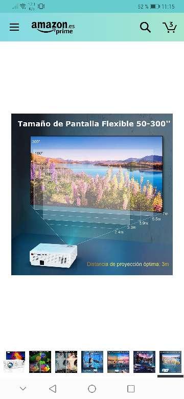 Imagen producto Vendo proyector wimius nuevo a estrenar 7200 lúmens,soporta 4k resolución 1920x1080.salidas HDMI, VGA y USB . 7