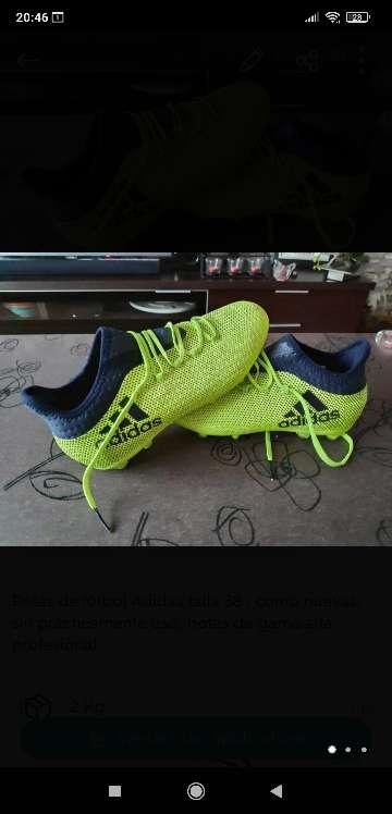 Imagen Botas fútbol Adidas talla 38