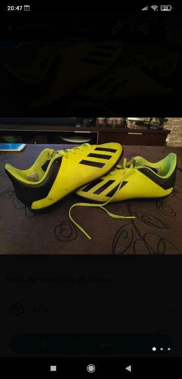 Imagen Botas de fútbol Adidas talla 38