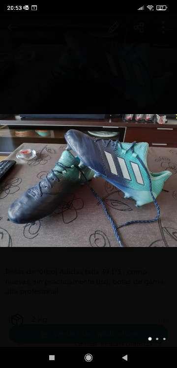 Imagen Botas fútbol Adidas talla 39 1/3