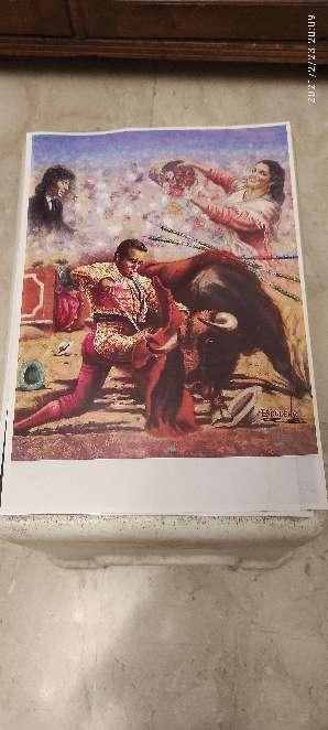 Imagen Curro Romero dos laminas de 30x21 ctms.