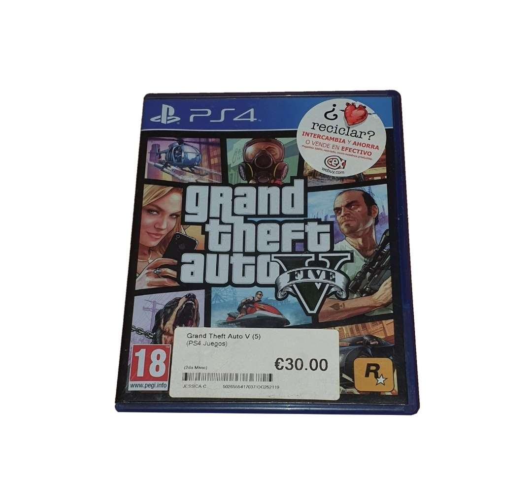 Imagen Grand Theft Auto V (GTA V) (PS4)