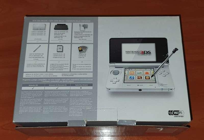 Imagen producto Videoconsola Nintendo 3DS Blanca Con Caja Original 10