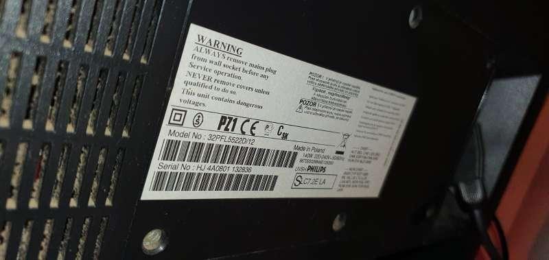 Imagen producto TV Philips HD Modelo 32pfl5522d/12 5