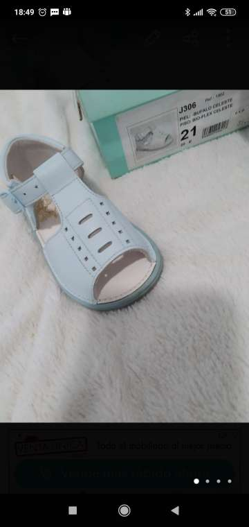 Imagen zapatillas azul pastel talla 21