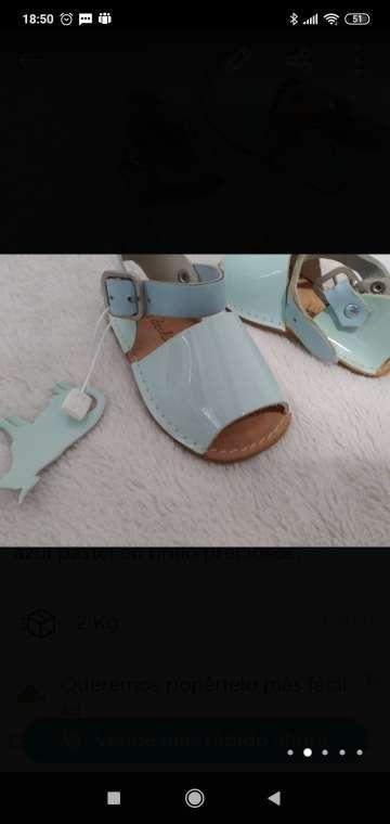 Imagen sandalias en brillo talla 17