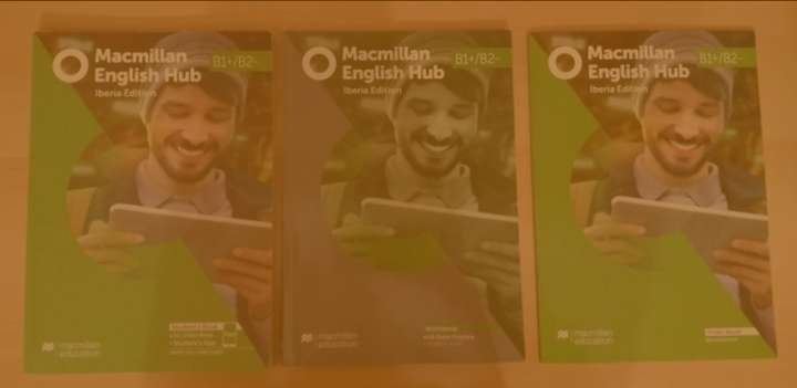 Imagen Macmillan English Hub B1 + / B2. Student book, workbook y videobook.