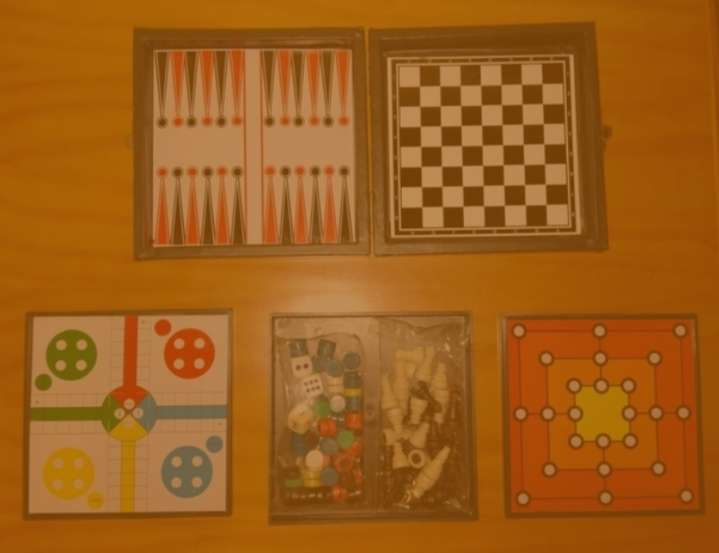 Imagen Pack mini juegos de mesa + mini maletín transporte